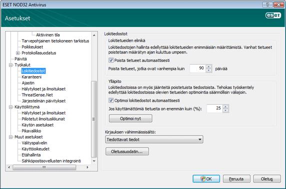 Nod32 ea config logs Lokitiedostot
