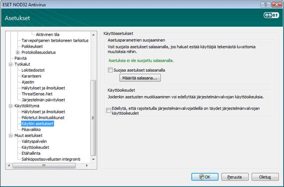 Nod32 ea config password Asetusten suojaus