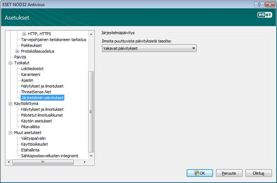 Nod32 ea config windows update Käyttöjärjestelmäpäivitys   asetukset