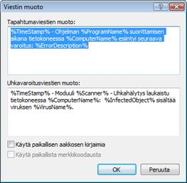 Nod32 ea format notice Viestin muoto