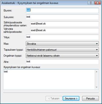 Nod32 ea support request Vianmääritys