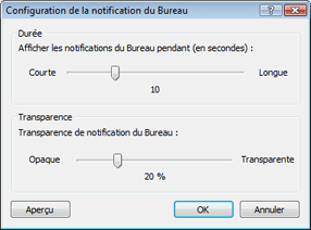 Nod32 ea config desktop Configuration des notifications de bureau