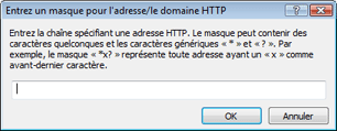 Nod32 ea config epfw url set manager Listes dadresses HTTP/masques