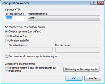 Nod32 ea config update mirror advance Mise a jour a partir du miroir