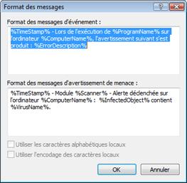 Nod32 ea format notice Format des messages