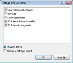 Nod32 ea log filter Filtrage des journaux