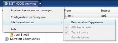 Nod32 ea oe toolbar Barre doutils Outlook Express et Windows Mail