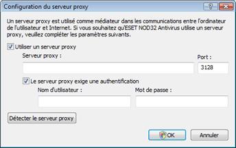Nod32 ea proxy server Configuration du serveur proxy