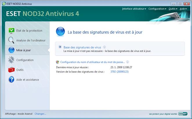 Nod32 ea update main Mise a jour