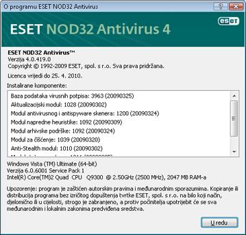 Nod32 ea about O programu ESET NOD32 Antivirus