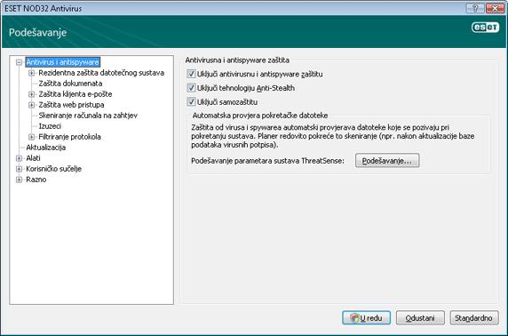 Nod32 ea config antivirus Antivirusna i antispyware zaštita – podešavanje