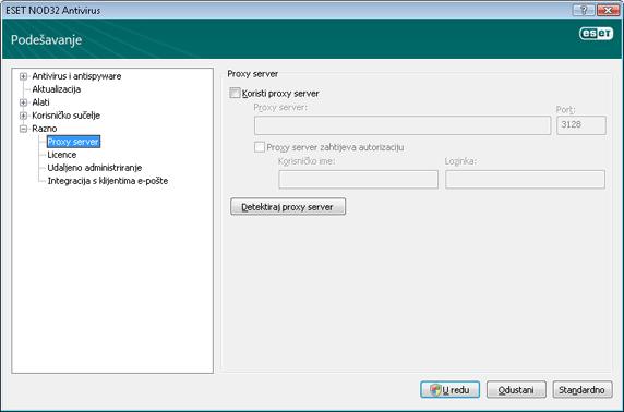 Nod32 ea config connection Proxy server