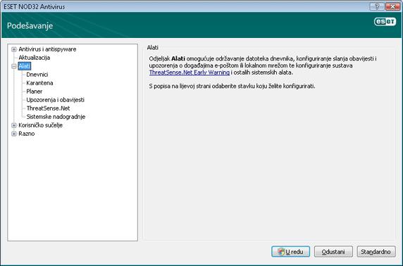 Nod32 ea config tools Alati