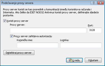 Nod32 ea proxy server Podešavanje proxy servera
