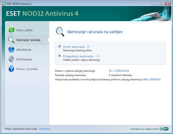 Nod32 ea scanner main Skeniranje računala na zahtjev