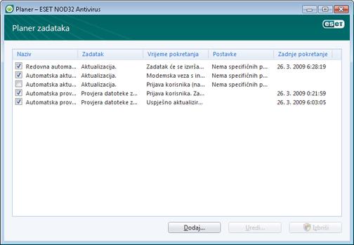 Nod32 ea scheduler window Planer – novi prozor