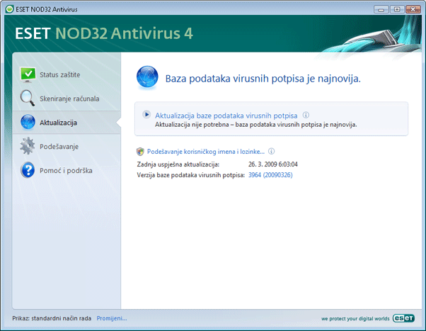 Nod32 ea update main Podešavanje aktualizacije