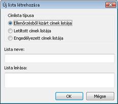Nod32 config epfw new url set Új lista létrehozása