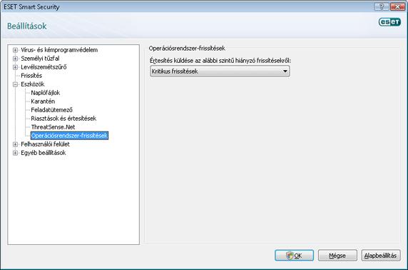 Nod32 config windows update Operációsrendszer frissítés – beállítások