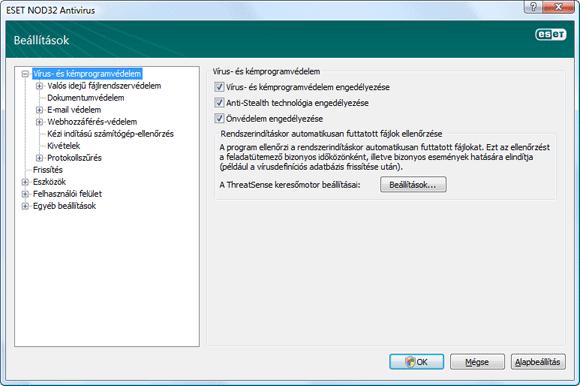 Nod32 ea config antivirus Vírus   és kémprogramvédelem – beállítások