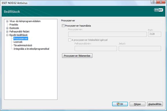 Nod32 ea config connection Proxyszerver