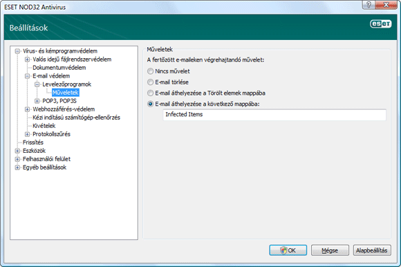 Nod32 ea config emon outlook Műveletek