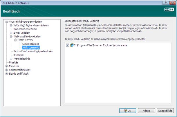 Nod32 ea config epfw browsers Böngészők