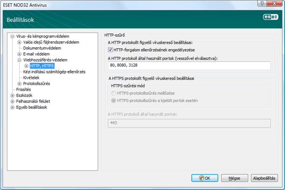 Nod32 ea config epfw scan http HTTP szűrő