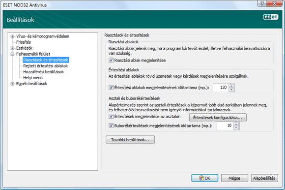 Nod32 ea config notice Riasztások és értesítések