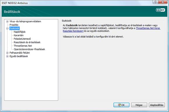 Nod32 ea config tools Eszközök