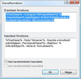 Nod32 ea format notice Üzenetformátum