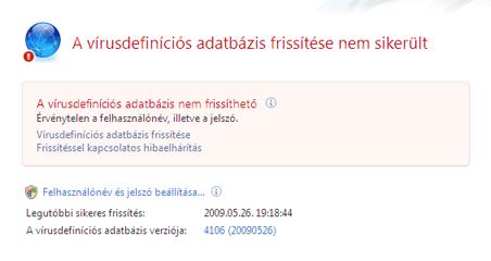 Nod32 ea page update 04 Frissítés