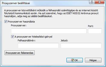 Nod32 ea proxy server A proxyszerver beállításai