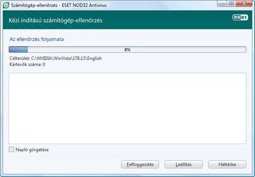 Nod32 ea scan window Számítógép ellenőrzése – ablak
