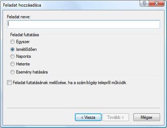 Nod32 ea scheduler type Feladat hozzáadása – feladat típusa