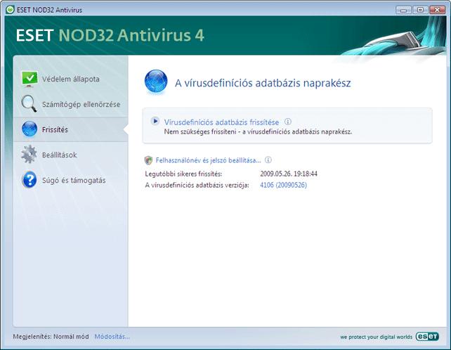 Nod32 ea update main A program frissítése
