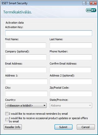 Nod32 update registering Termékaktiválás