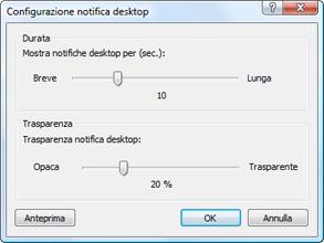 Nod32 ea config desktop Impostazione notifiche desktop