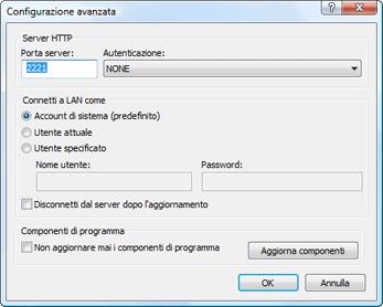 Nod32 ea config update mirror advance Aggiornamento dal mirror
