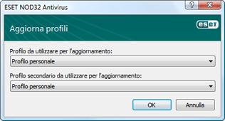 Nod32 ea config update sched Profili di aggiornamento
