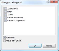 Nod32 ea log filter Filtro del rapporto