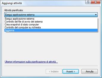 Nod32 ea scheduler task Creazione di nuove attività