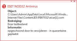 Nod32 ea antivirus behavior and user interaction Antivirusgedrag en gebruikersinteractie