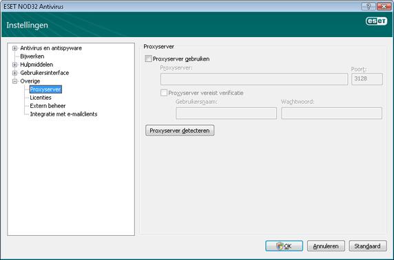 Nod32 ea config connection Proxyserver