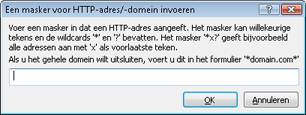 Nod32 ea config epfw url set manager Lijsten met HTTP adressen/ maskers