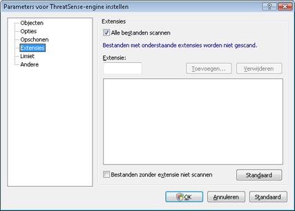 Nod32 ea config extension Extensie
