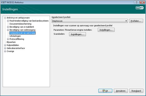 Nod32 ea config scan Computerscan op aanvraag