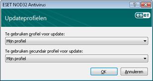 Nod32 ea config update sched Updateprofielen
