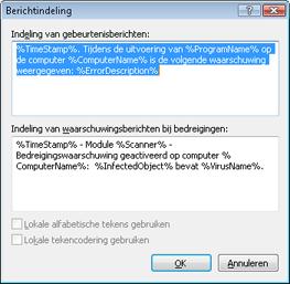 Nod32 ea format notice Berichtindeling