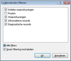 Nod32 ea log filter Logbestanden filteren
